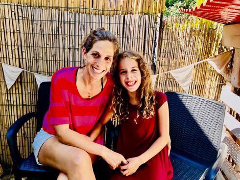 סיגל רובין-שהם ובתה תמר, שדווקא תומכת מאוד בפרויקט של אמא