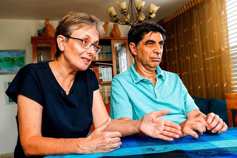 Hadar Goldin's parents (Photo: AFP)