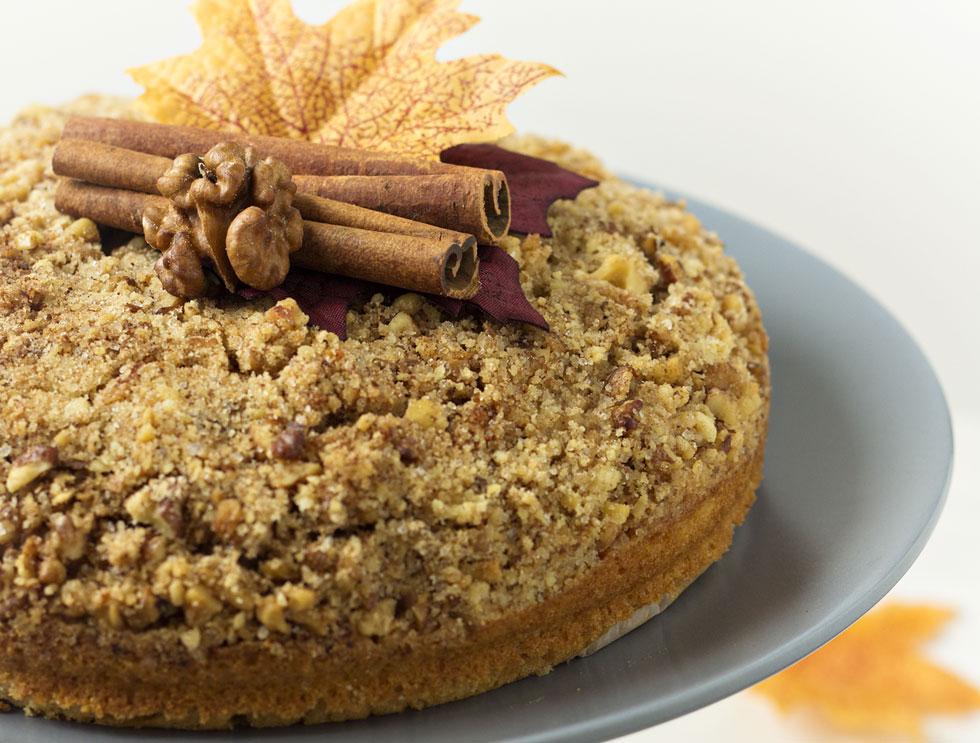 עוגת קפה ואגוזים (צילום: Shutterstock)