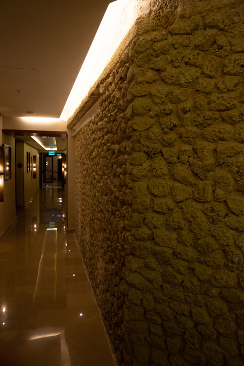 החומה האמיתית נמצאת דווקא בפנים, בפרוזדור שבקומת המרתף (צילום: דור נבו)