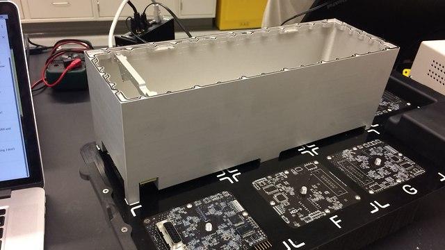 מעטפת המעבדה של SpacePharma (צילום: יח