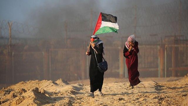 Gaza border riots (Photo: AFP)