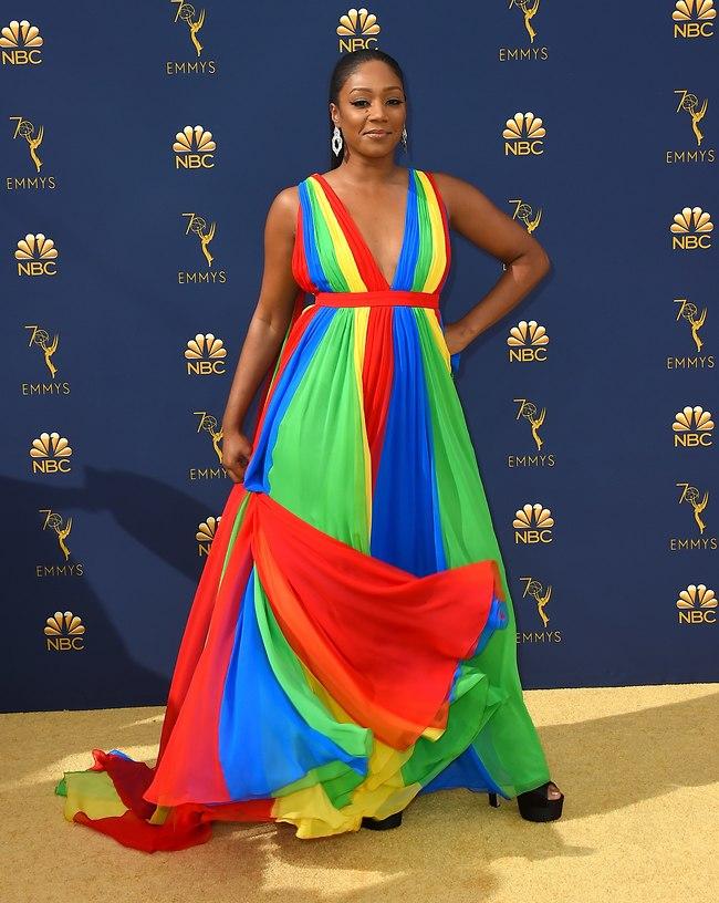 טיפאני האדיש לובשת פריימרק. סתם, לא באמת, אבל נשבעת שראיתי כזו שמלה באתר שלהם (AP)