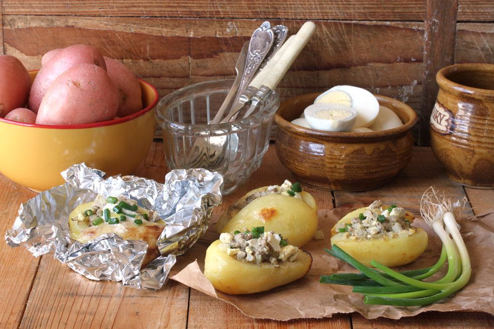 תפוחי אדמה ממולאים בכבד לסוכות (צילום, סגנון והכנה: אסנת לסטר)