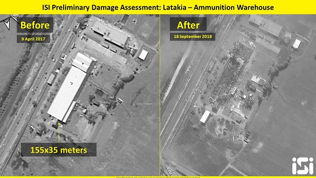 Site of attack in Latakia, Syria (Photo: ImageSat International )
