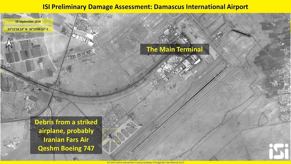 Satellite images of the attack on Latakia (Photo:  ImageSat International (ISI))