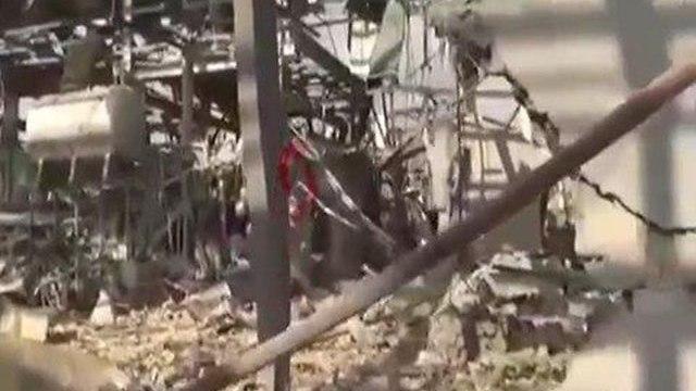 תיעוד התקיפה הישראלית בלטקיה ()