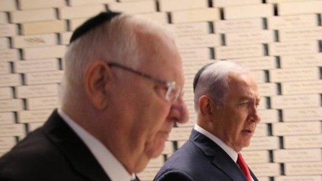 President Rivlin with PM Netanyahu (Photo: Alex Kolomoisky)