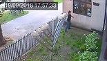 Man throws rock through synagogue window in Poland (Photo: Youtube)