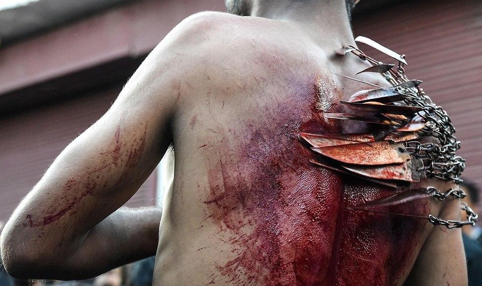 יום ה עשוראא מוסלמים שיעים הודו קשמיר (צילום: AFP)