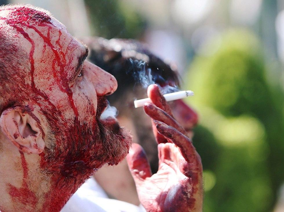 יום ה עשוראא מוסלמים שיעים א-נבטיה לבנון (צילום: רויטרס)