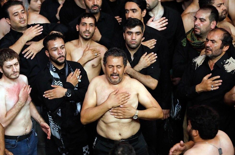 יום ה עשוראא מוסלמים שיעים טהרן איראן (צילום: EPA)