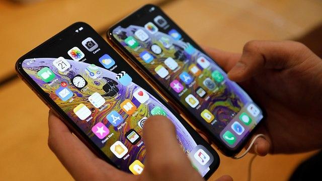 אייפון XS ו-XS Max בחנות אפל בסינגפור (צילום: רויטרס)