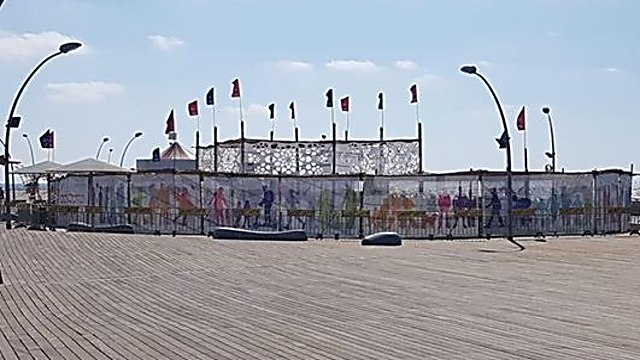 Sukka by Tel Aviv Port (Photo: Gal Ya'ari)