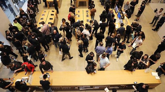 חנות אפל במנהטן (צילום: AFP)