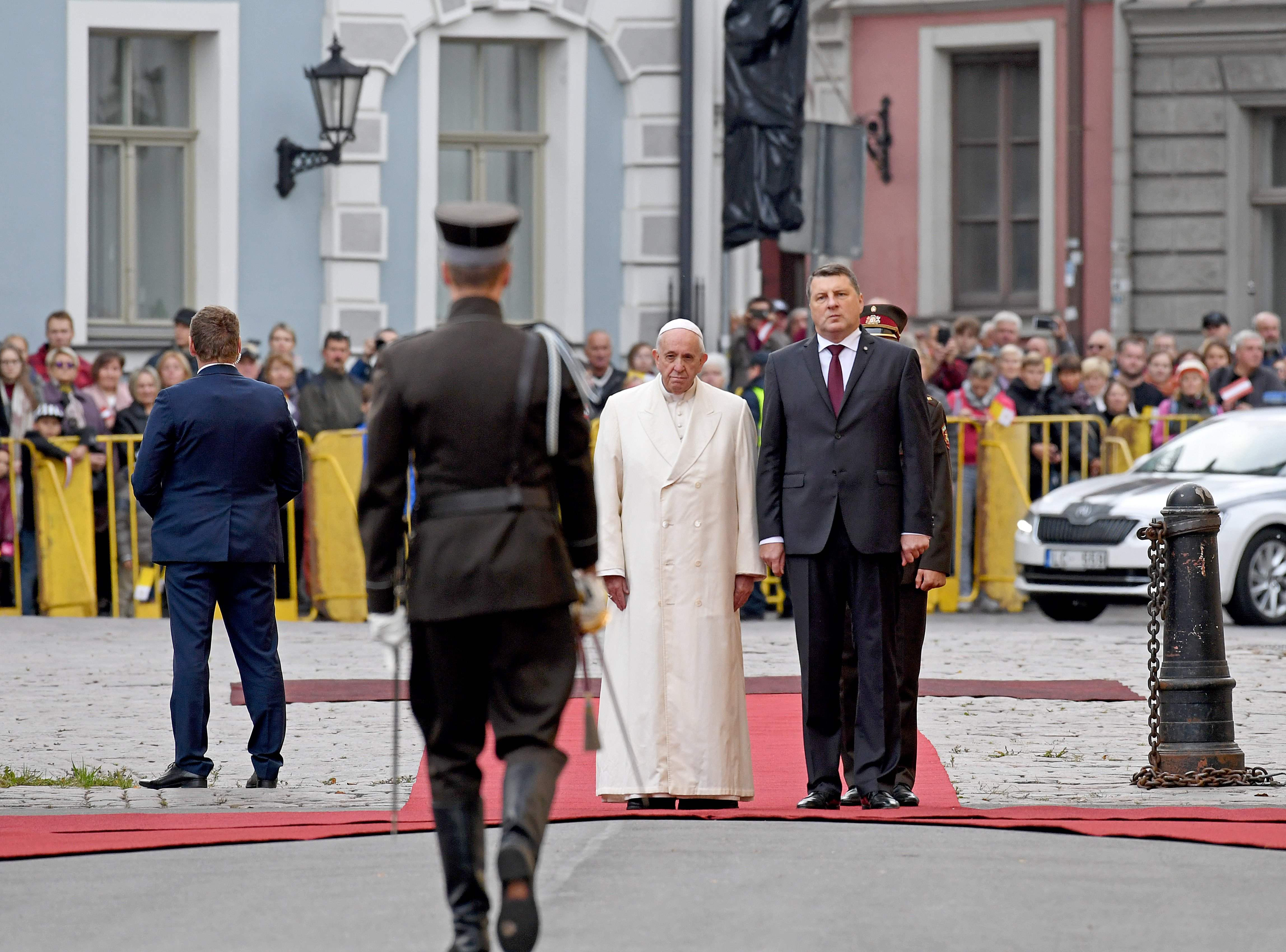 Pope Francis in Lithuania (Photo: AFP)