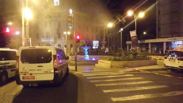 זירת התאונה (צילום: דוברות המשטרה)