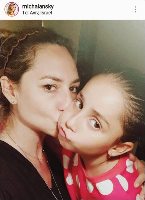 עם הבת דניאלה (צילום: מתוך האינסטגרם של michalansky@)