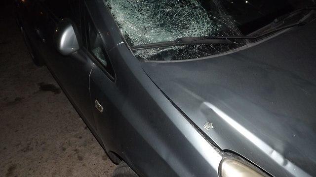 תאונת דרכים בכיכר פריז בירושלים (צילום: דוברות המשטרה)
