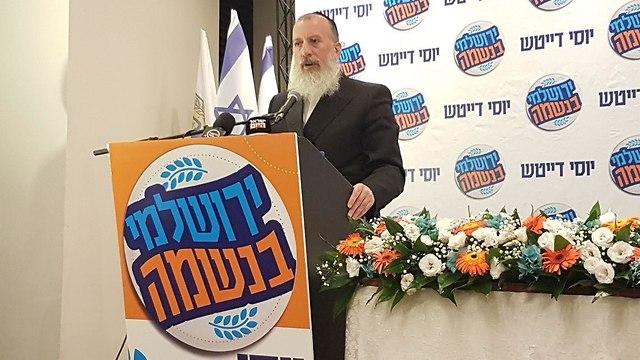 המועמד יוסי דייטש (צילום: ענבר טויזר)