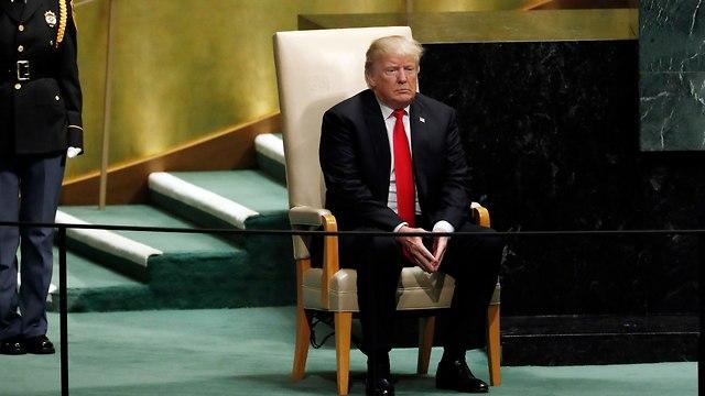 US President Donald Trump at the United Nations General Assembly, November 2018 (Photo: AP)