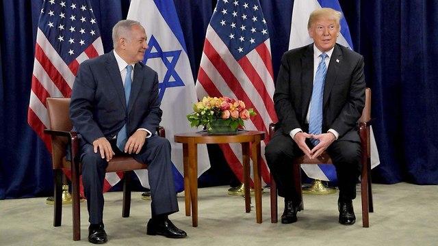 Netanyahu meeting Trump (Photo: Avi Ohayon/GPO)