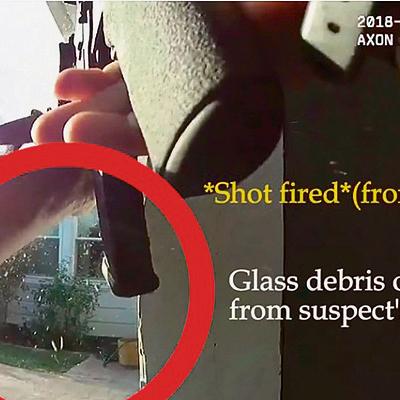 השוטר משיב אש לאחר שנשמעת ירייה