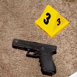 האקדח שמצאה המשטרה בביתו ביום מותו