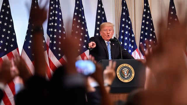 US President Donald Trump talking to reporters (Photo: AFP)