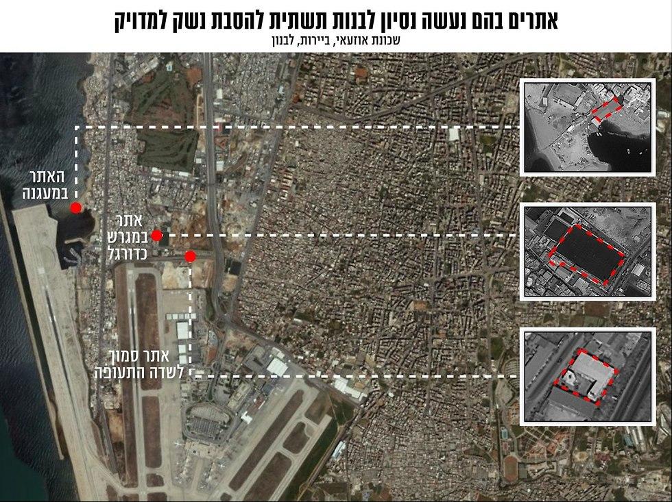 Раскрытые израильской разведкой объекты для производства ракет в Бейруте. Фото: пресс-служба ЦАХАЛа