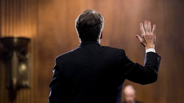 ברט קאבנו שימוע בסנאט (צילום: EPA)