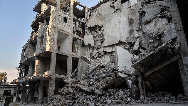 Rubble in Idlib (Photo: MCT)