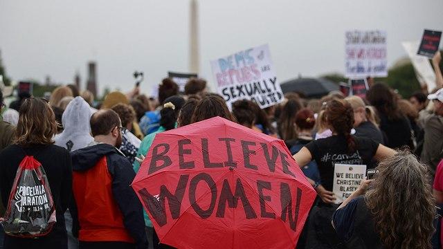 מחאה נגד ברט קאבנו  (צילום: gettyimages)