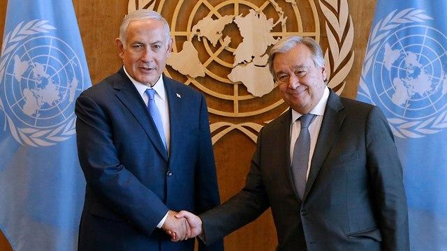 PM with UN Gen.  Sec. Antonio Guterres (Photo: AP)