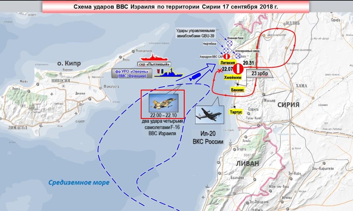 Карта минобoроны РФ от 18 сентября