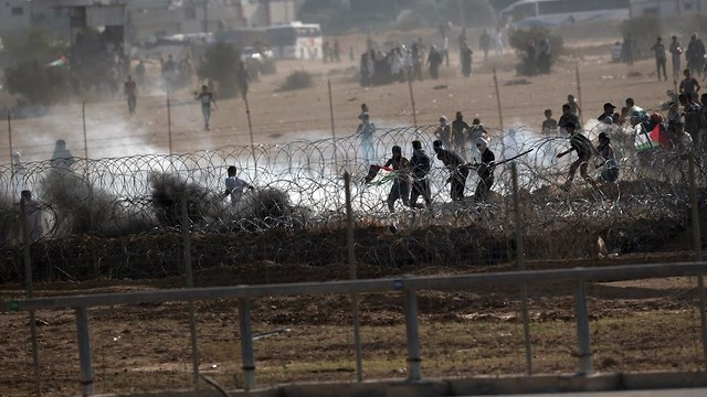Gaza border riots (Photo: IDF Spokesperson's Unit)