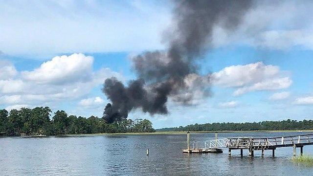 У места падения F-35 в Южной Каролине. Фото: AP