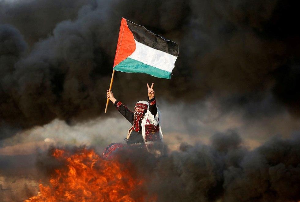 מהומות בעזה (צילום: רויטרס)