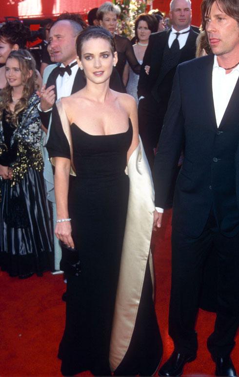 וינונה ריידר בשמלת וינטג' של טריג'ר, 2000 (צילום: rex/asap creative)