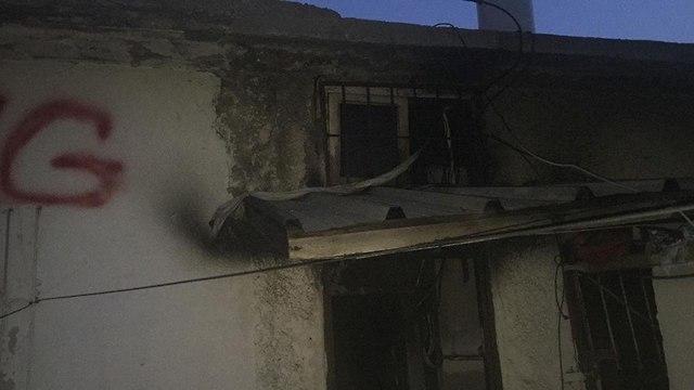 שריפה ברחוב אנילביץ בתל אביב  (צילום: דוברות כבאות מחוז דן)