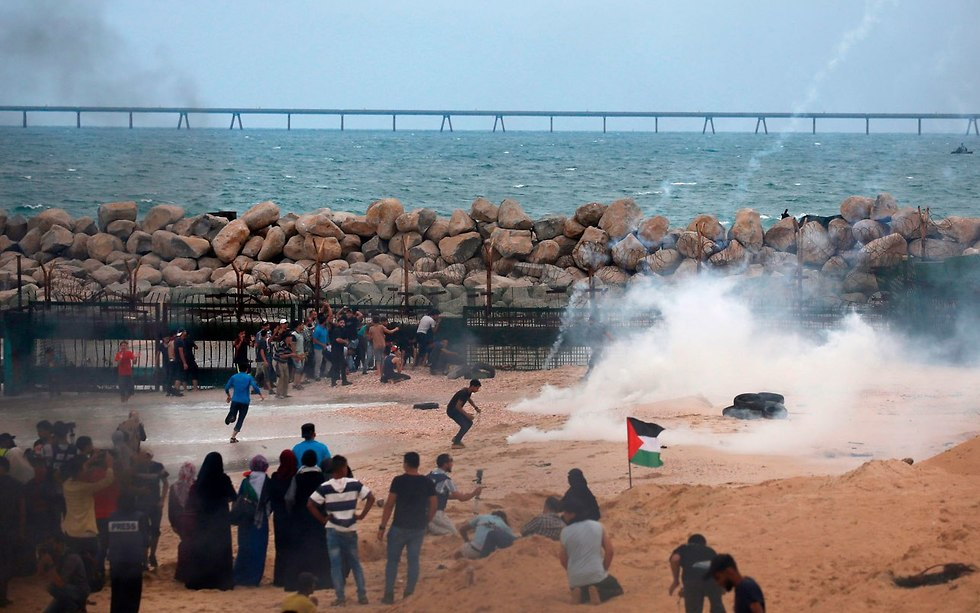 Riots in northern Gaza (Photo: AFP)