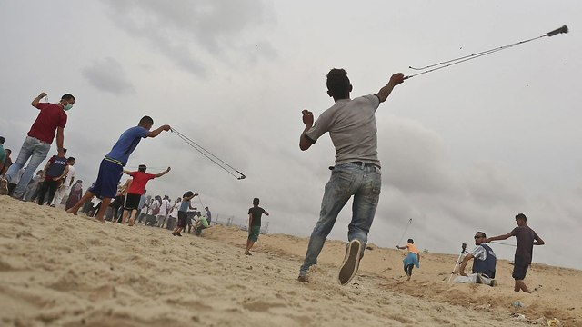 Rioting in Gaza (Photo: AFP)