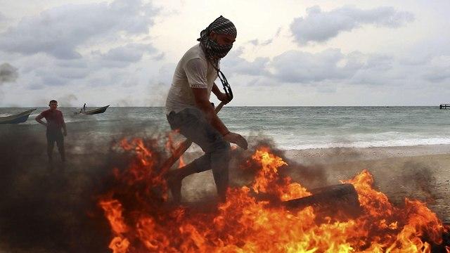 Rioting in Gaza (Photo: AFP)