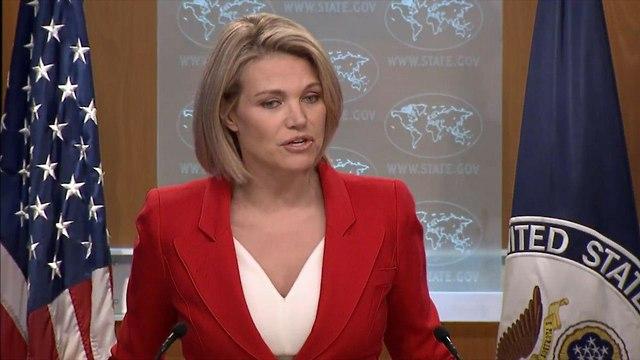 הת'ר נאורט דוברת מחלקת ה מדינה ה אמריקנית (צילום:  U.S Department of State)