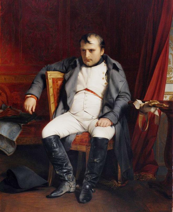 """נפוליאון בונפארטה. """"לילה אחד בפריז יביא תיקון לטבח הזה"""" (ציור: Paul Delaroche, מתוך  Museum der bildenden Künste, cc)"""