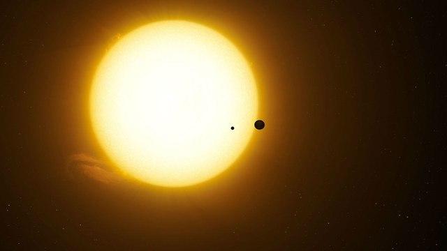 הכוכב, כוכב הלכת והירח (הדמיה: מתוך המחקר)