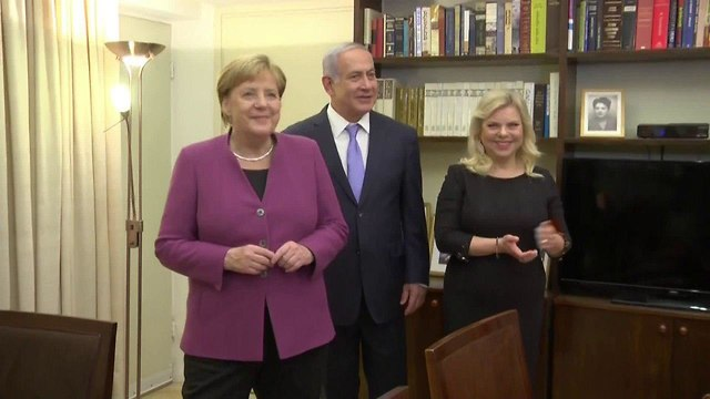Merkel with Prime Minister Netanyahu and his wife Sara (Photo: Connect)