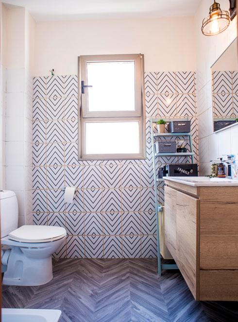חדר האמבטיה המשופץ (צילום: יובל חן)