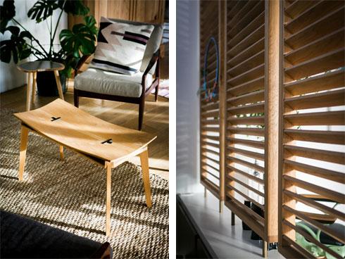 רהיטי עץ תוצרת בית (צילום: שירן כרמל)