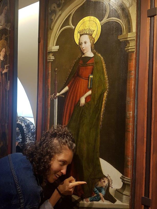 איילת במוזיאון לאמנות בדיז'ון (צילום: יריב כץ)